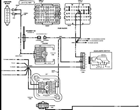 1990 Chevy Fuse Box by 1990 Chevy C1500 Wiring Diagram Wiring Diagram Database