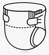 Diaper Coloring Colorare Pannolino Da Clipartkey sketch template