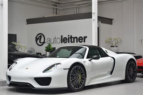 porsche 918 spyder white porsche 918 spyder for sale at 1 8 million in the