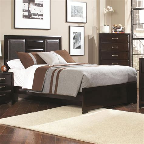 Coaster Home 203551ke Palmetto King Bed With Faux Leather