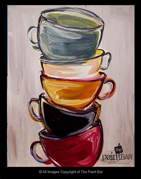 Kitchen Tea Present Ideas - stacked tea cups painting painting pinterest tea cups teas and cups