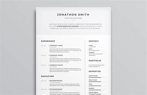 Clean Creative Resume Templates by Clean Resume Cv Template Medialoot