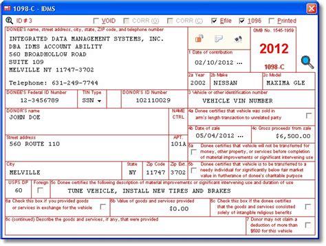 13 best form 1098 c images on pinterest donate car