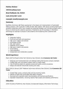 professional ecommerce qa tester templates to showcase With ecommerce resume sample