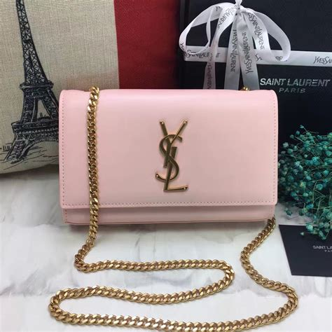 ysl smooth leather chain bag cm light pink  replica ysl