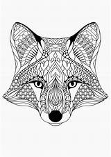 Coloring Adult Pages Fox Adults Printable sketch template