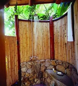 Sichtschutz Dusche Garten : 34 ideen f r sichtschutz im garten mit bambus ~ Indierocktalk.com Haus und Dekorationen