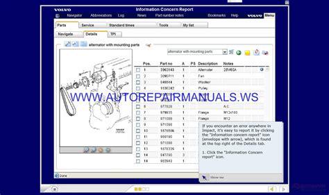 volvo impact  study training cd image auto repair