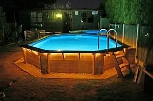 Eclairage Terrasse Piscine : eclairage piscine bois hors sol ~ Melissatoandfro.com Idées de Décoration