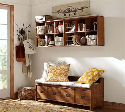 welcoming entryway benches  maximize storage space