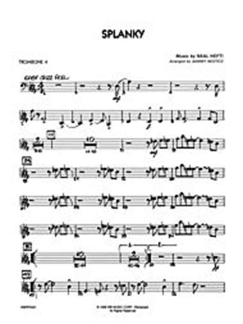 splanky conductor score parts sheet music by neal