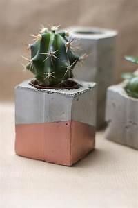 Blumentöpfe Aus Beton : basteln mit zement vasen oder blument pfe kupfer ~ Michelbontemps.com Haus und Dekorationen