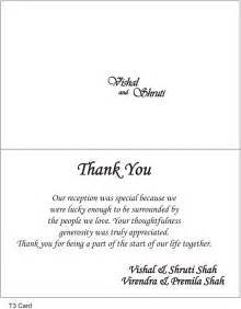 Thank You Note Sle Wording by Thank You Cards Wedding Wording Search Thank