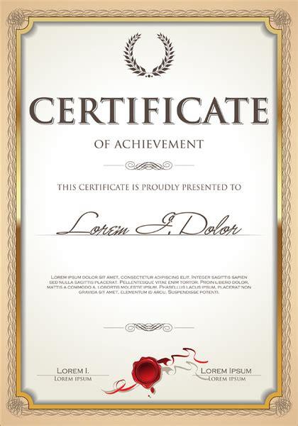 certificate frame vector  vector