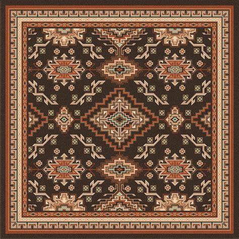southwest rugs  ft square teton lodge ruglone star
