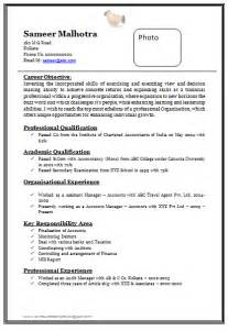 standard resume format for mba freshers pdf to excel over 10000 cv and resume sles with free download professional chartered accountant resume
