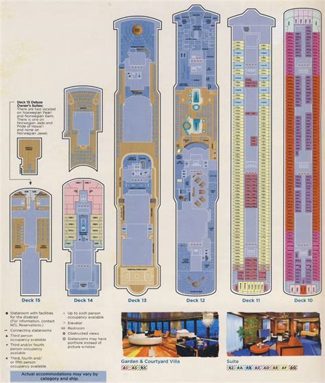 Pearl Deck Plans Travelocity by Deck Plan