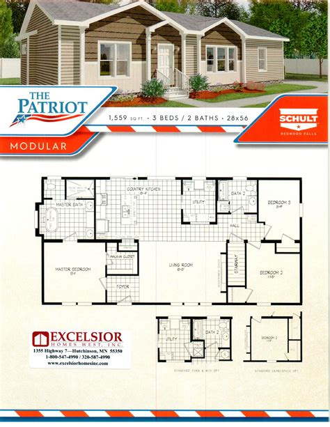 schult homes patriot modular home plan