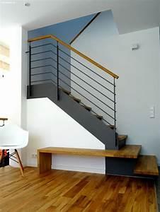 Stahltreppe Mit Holzstufen : stahltreppe mit holzstufen wangentreppe wat 3600 http ~ Michelbontemps.com Haus und Dekorationen
