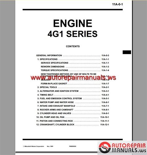 small engine repair manuals free download 1992 mitsubishi eclipse interior lighting mitsubishi 4g15 engine manual auto repair manual forum heavy equipment forums download