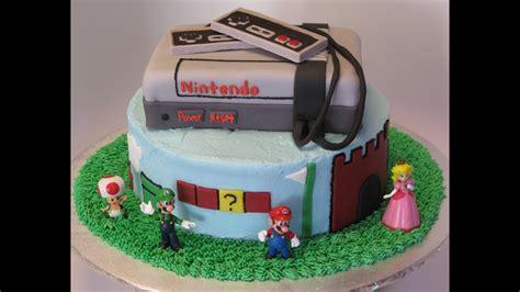 nintendos super mario brothers birthday cake youtube