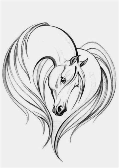 easy+horse+drawings | Simple Horse Head Drawing Elegant horse head on the | Drawings | Pinterest