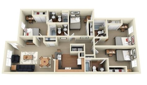 four bedroom apartments 4 bedroom apartment house plans