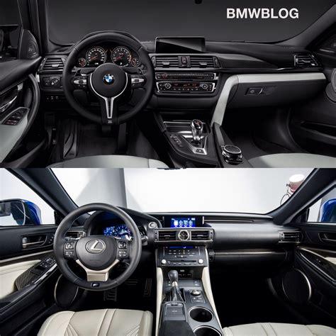 lexus rc interior bmw m4 vs lexus rc f choose your favorite