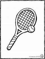 Tennis Tennisracket Ball Tenis Kiddicolour Tennisbal Raquette Racquet Pelota Raqueta Drawing Balle Kleurplaat Coloriage Kiddicoloriage Colouring Kleurprent Dibujo Tekening Colorier sketch template