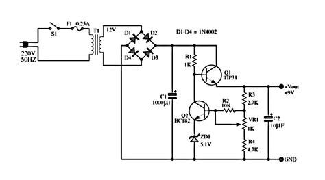 Volt Adjustable Power Supply Circuit Tech