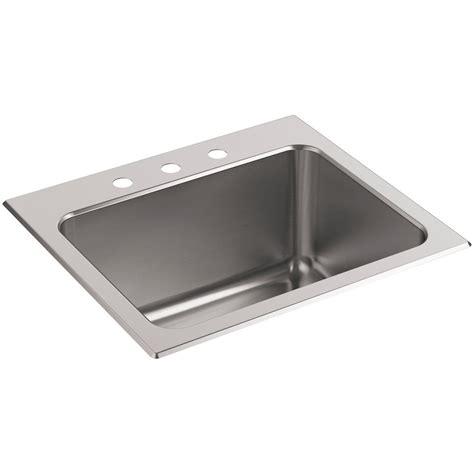 33x22 Sink Home Depot by Kohler Ballad 22 In X 25 In Stainless Steel 3