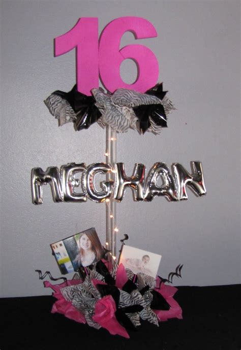 Sweet 16 Decorations And Centerpieces Party People