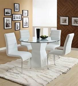 white round dining room table marceladickcom With modern round dining room table
