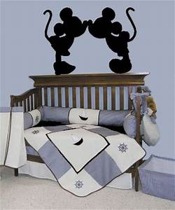 baby room on pinterest round cribs cribs and nurseries With kitchen cabinets lowes with mickey and minnie mouse stickers