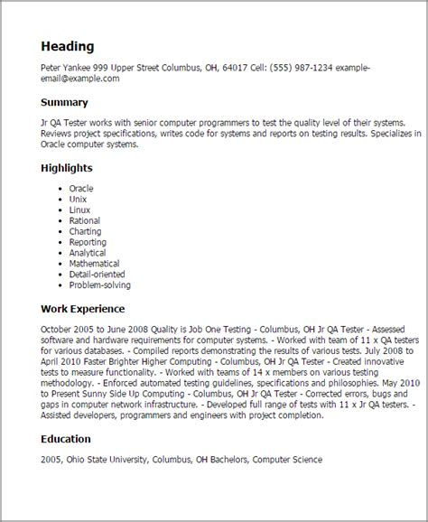 automation testing resume qtp write my research paper for