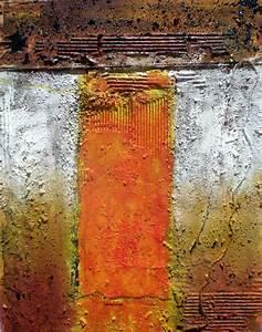 Leinwand Aufhängen Schnur : collage1 acrylmalerei gold schnur orange von anneliese di vora bei kunstnet ~ Yasmunasinghe.com Haus und Dekorationen