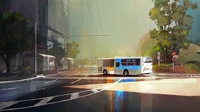 Bus Wallpapers Yokohama 4k Artist Artstation Artwork