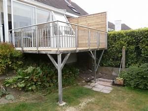 terrasse suspendue nord pas de calais terrasse en bois With terrasse suspendue en beton
