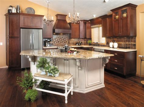 kitchen cabinets and islands kitchen light cherry cabinets painted island