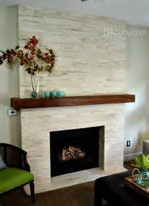 Modern Stone Fireplace Makeover