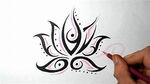 Lotus Flower Tattoos - Quick Design Sketch Idea - YouTube