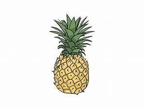 How to Draw a Pineapple / Как нарисовать ананас - YouTube