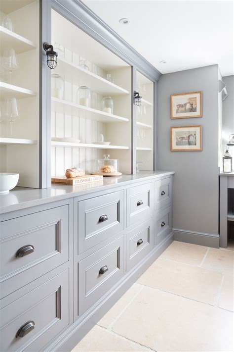 Built In Open Kitchen Shelving by Kitchen Gray Grey Cabinets With Open Shelving Painted