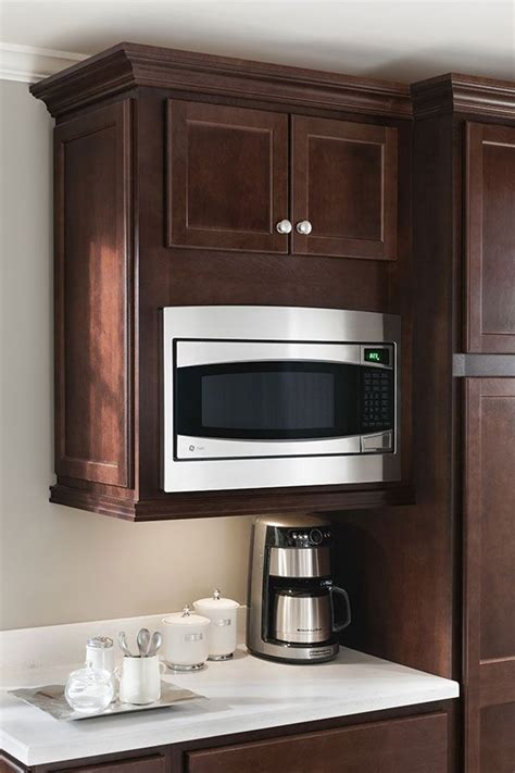 kitchen microwave wall cabinet a wall built in microwave cabinet keeps counter clear and 5406