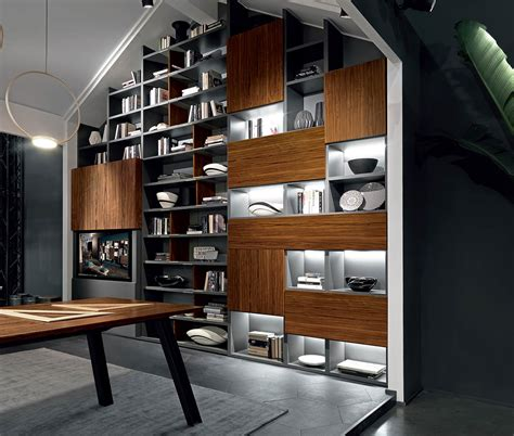 Libreria Con Tv by Libreria Di Design Con Porta A Scomparsa By Fimar