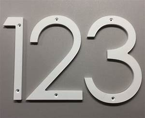 5 inch modern house numbers letters With house number letters