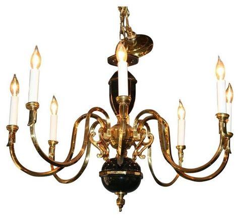 black gold porcelain and brass chandelier modern