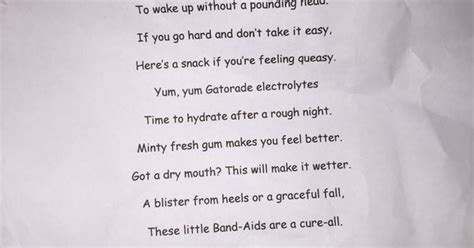 bachelorette survival kit poem love pinterest