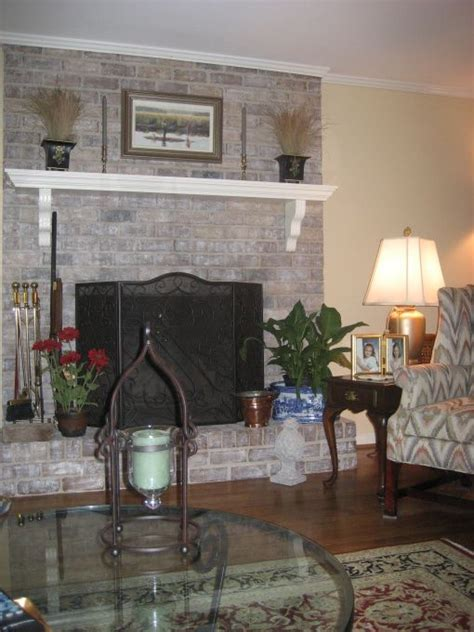 painted brick fireplace ideas gray white washed
