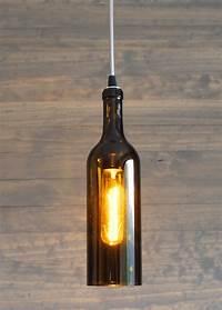 wine bottle pendant light Upcycled Wine Bottle Pendant Light